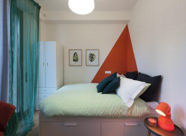 Letto della camera Arancione B&B a Firenze La Marmora 39