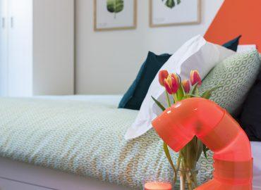 Lampada design della camera Arancione B&B a Firenze La Marmora 39