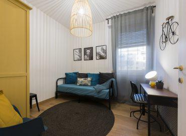 Dettaglio camera blu del bed and breakfast in centro Firenze La Marmora 39