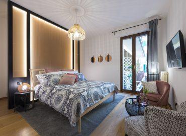 Interno camera rosa del B&B vicino Duomo Firenze La Marmora 39