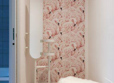 Specchio della camera rosa del B&B vicino Duomo Firenze La Marmora 39