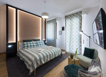 Panoramica camera verde del B&B Firenze per famiglie La Marmora 39