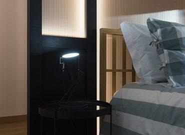 Comodino camera verde del B&B Firenze per famiglie La Marmora 39