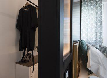 Dettaglio camera verde B&B Firenze per famiglie La Marmora 39