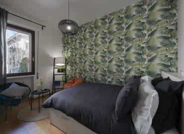 Letto camera verde B&B Firenze per famiglie La Marmora 39