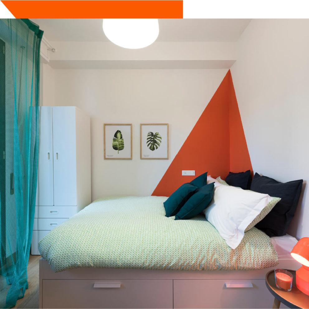 Interno camera Arancione del B&B a Firenze La Marmora 39