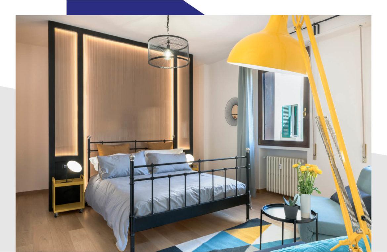 Interno camera Blu del bed and breakfast La Marmora 39 a Firenze