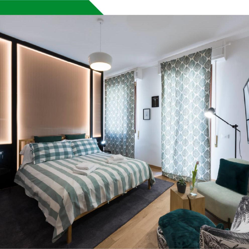 Interno camera per famiglie del B&B a Firenze La Marmora 39